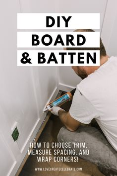 Build your own DIY Board and Batten wall! This beginner tutorial includes a video of how to measure spacing, how to choose trim, and how to install! Diy Wall Art, Diy Wall Decor, Darkest Black Color, Using A Paint Sprayer, Diy Letters, Board And Batten, Beautiful Interior Design, Diy Furniture, Building Furniture