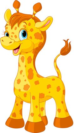 Illustration about Illustration of little cute giraffe calf. Illustration of drawing, giraffe, clipart - 45425700 Jungle Animals, Baby Animals, Cute Animals, Cartoon Pics, Cute Cartoon, Inkscape Tutorials, Image 3d, Nursery Paintings, Cute Giraffe