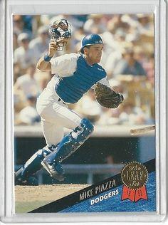 1993 LEAF MIKE PIAZZA NMMT #35 in Sports Mem, Cards & Fan Shop, Cards, Baseball   eBay $0.01
