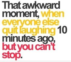 Haha....Haha  Seriously this happens to me all the time...lol.  One other reason I always got in trouble in school... giggles