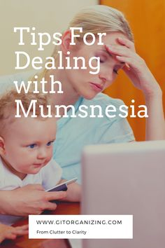 6 Tips for dealing with Mumnesia. Have you become increasingly forgetful since becoming a mother? Mumsnesia is a genuine medical condition that affects many new mums. It's a symptom of chronic fatigue, post-pregnancy hormonal changes and the stresses and pressures of being a new parent Chronic Fatigue Symptoms, Nursery Organization, Hormonal Changes, Post Pregnancy, New Mums, New Parents, How To Become, Conditioner, Stress