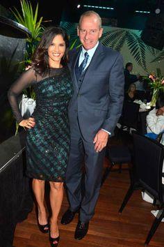 Darlene Rodriguez co-host and Ronald C Lieberman.  photo by:  rose billings