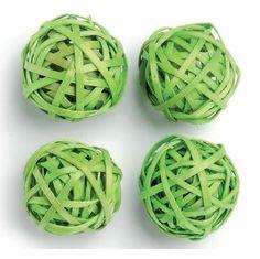 Grüne #Rattankugeln für Deine #Tischdeko: http://www.trendmarkt24.de/rattankugel-gruen-4-stueck-4-cm.html#p