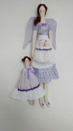 Anjinha pra  porta de maternidade gêmeas com irmãzinha - Atelier Flor de Tule