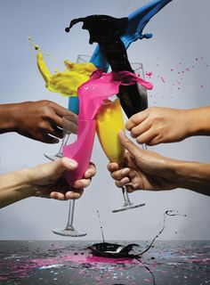 cheers to a colorful new years eve!