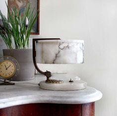 Art Deco Marble Bureau/ Table Lamp. 1920.