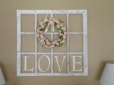 decorating ideas for old window frames and china playes - Google Search