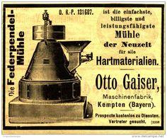 Original-Werbung/ Anzeige 1901 : DIE FEDERPENDEL - MÜHLE / OTTO GAISER KEMPTEN - ca 100 x 75 mm