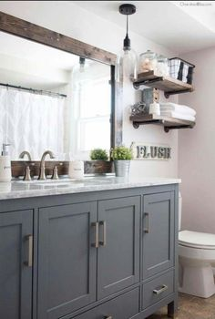 This is so cute. I really want a rustic bathroom when I have my own house!