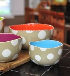 Watching these bowls spin on the pottery wheel will make you dizzy...which is how they go their name! Serve anything with more style in these statement pieces. The Neutral Dot Dizzy Bowls are the perfect sizes for serving, mixing or even punch, they will become your go to bowls for any occasion.