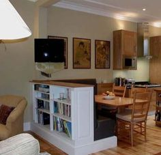 Living Room and Office Combo Idea Luxury Living Room Dining Room Office Bos Modern Living Room Paint, Living Room And Kitchen Design, Small Space Living Room, Living Room Green, Small Rooms, Living Room Designs, Living Room Decor, Small Living, Comedor Office