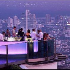63 floors up over Thailand...The Sky Bar.