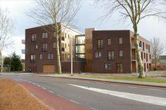 Appartementencomplex aan het eind van de Aldlansdyk.
