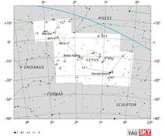 cetus star map,cetus the whale,cetus star chart
