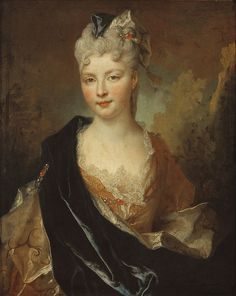 C.1714 UNKNOWN LADY TOUGHT TO BE LA DUCHESSE DE BEAUFORT, BETWEEN OTHERS by the lost gallery, via Flickr