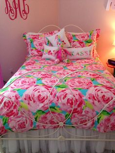 My Lilly Pulitzer Bed   Need This Bedskirt!