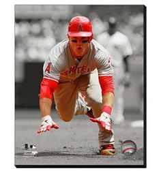 Mike Trout Canvas Framed Over With 2 Inches Stretcher Bars-Ready To Hang- Awesome & Beautiful