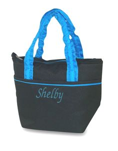 For lunch on the go, carry this new trendy style insulated food tote in solid black with ruching on handle. Keeps food either warm or cold. Includes personalization with name or three letter monogram from Simply Bags. Insulated Lunch Bags, Reusable Tote Bags, Personalized Lunch Bags, Embroidered Bag, Monogram Letters, Canvas Bags, Beach Bags, Giveaway, Food