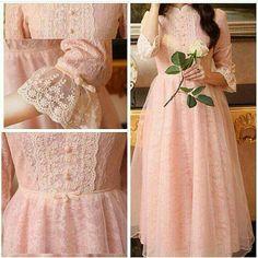 Frock Fashion, Lolita Fashion, Fashion Dresses, Modern Hijab Fashion, Muslim Women Fashion, Vestidos Vintage, Vintage Dresses, Little Girl Dresses, Girls Dresses
