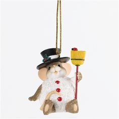 Charming Tails Snowman Ornament