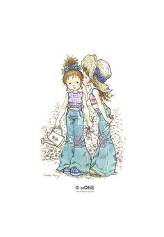Holly Hobbie - Sarah Kay - no4 - A4 Digital Collage Sheet - Printable - For unlimited number of prints