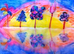 Marker project - spray with water, fold paper in half to get the reflection.
