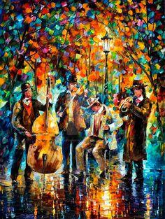 Las bellas y coloridas pinturas al óleo de Leonid Afremov