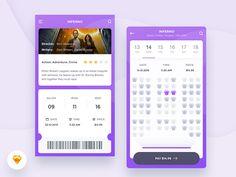 Cinema App Freebie by Kamil Bachanek