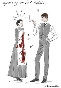 """some scribbles This duo is killing me, haha! (""""Stalking Jack the Ripper"""" by @ kerrimaniscalco)"""
