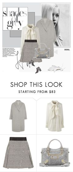 """Shade of grey"" by stephaniee90 ❤ liked on Polyvore featuring GE, Brunello Cucinelli, Lands' End, Alice + Olivia, Balenciaga, Senso and plus size clothing"