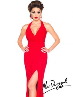 Black White Red by Mac Duggal Style 61721R now in stock at Bri'Zan Couture, www.brizancouture.com