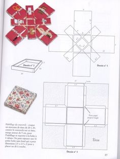 Crafts made of cardboard Le cartonnage techniques et réalisations Small Sewing Projects, Sewing Hacks, Sewing Crafts, Sewing Box, Sewing Notions, Bag Patterns To Sew, Sewing Patterns, Cross Stitching, Cross Stitch Embroidery