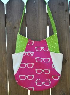 """Pink Stitches: Pretty In Pink """"241"""" tote ba"""
