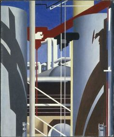 "Incantation (1946) by Charles Sheeler, American, 1883-1965. Oil on canvas, approx. 24"" x 20"". Brooklyn Museum."