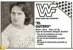 Ficha trasera blister El Gaitero WWF - Hasbro