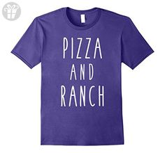 Mens Pizza and Ranch Funny Food Saying Love Hobby Tee Small Purple - Funny shirts (*Amazon Partner-Link)