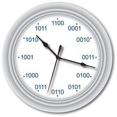 BINARY WALL CLOCK - Code Computer Video Game Programmer Nerd Geek - GREAT GIFT