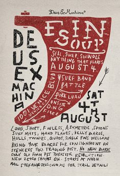 Deus Ex Machina Typographic Poster