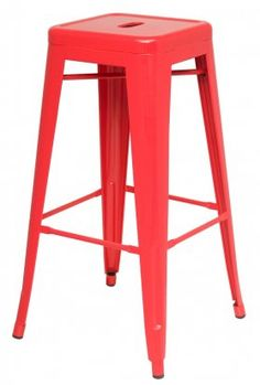 """30""""H Red Cafe Style Backless Breakroom Bar Stool   Dynamic Office Services"""