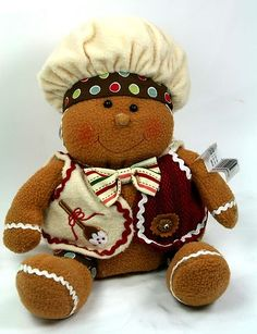 """Christmas Decoration Gingerbread Baby boy 10"""" 