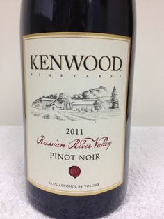 2011 Kenwood Pinot Noir, USA, California, Sonoma County, Russian River Valley - CellarTracker