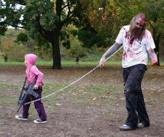 Great costume if your kid doesn't like to dress for halloween but you do. Love it