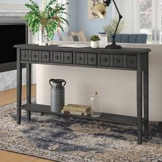 Great Deals on Beglin Console Table By Gracie Oaks Antique Console Table, Hall Console Table, Console Cabinet, Sideboard, White Table Lamp, Hooker Furniture, Modern Farmhouse Style, Wood Veneer, Entryway Tables
