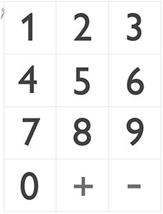 printable numbers small