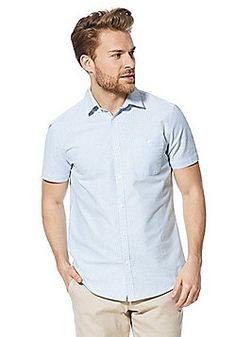 F&F Striped Short Sleeve Oxford Shirt - Green Casual Shirts For Men, Men Casual, Wimbledon, Striped Shorts, Latest Fashion, Oxford, Fashion Outfits, Clothes For Women, Sleeve