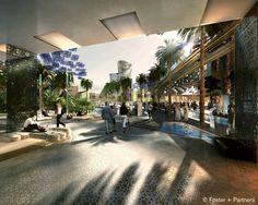 Masdar City (near Abu Dhabi – United Arab Emirates). Project by Foster & Partners.  http://www.archipanic.com/new-urban-ecologies/