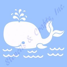 "4 5"" Whale Stencil Stencils Beach Paint Craft Template Templates Background New 