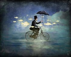 Anything can happen in a world that holds such beauty - Christian Schloe is a talented Chilean artist whose work includes digital art, painting, illustration, and photography. Art And Illustration, Illustrations Posters, Art Du Monde, Vladimir Kush, Marcel Duchamp, Digital Art Girl, Pop Surrealism, Surreal Art, Art Plastique