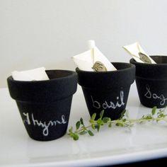 Mini Chalkboard Herb Pots by SophisticatedPalate on Etsy, $9.00