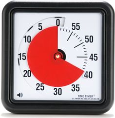 The Time Timer - great tool for visual learners & those with ADD / ADHD.